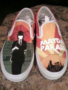 Mayday Parade shoes. Want!!!