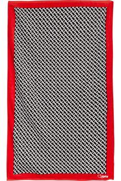 Diane von Furstenberg  Printed cotton-flannel towel
