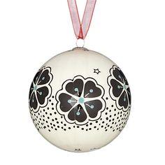 Buy John Lewis Japan Decoupage Flower Bauble, White online at JohnLewis.com - John Lewis