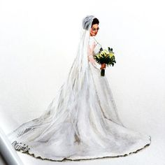 Bridal illustration ✨ #bridalillustration #bridetobe #bridalgift #bridaldress #weddingdress #herecomesthebride #weddinggift #anniversarygift #bridalsketch #realbride #bridalportrait #fashionillustration #fashionsketch #copicmarkers #lookillustrated #hiantjen