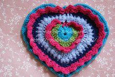 Gehaakt hart patroon 2