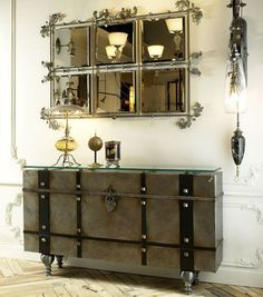 Console table: Barnwood Furniture, Rustic Furnishings, Log Bed, Cabin Decor, Harvest Tables, Mission Beds