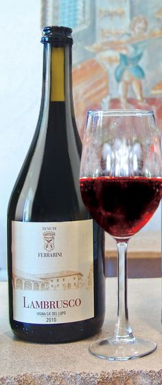 Ferrarini Lambrusco is a bright, vibrant, medium-bodied red brimming with aromas and flavors of bright blueberry, brambly blackberry and tart cherry with a crisp, nutty, and long-lasting finish. #italianwine