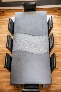 Decorative concrete table