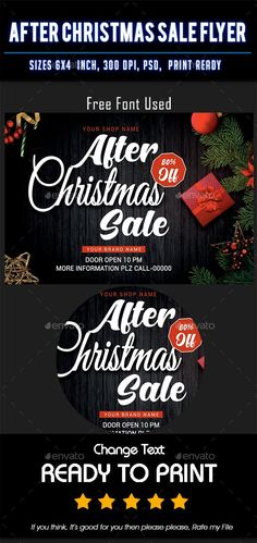 After Christmas Sale flyer