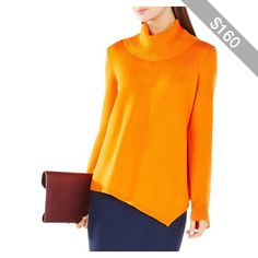 Bcbgmaxazria Warin Merino Wool Turtleneck Sweater