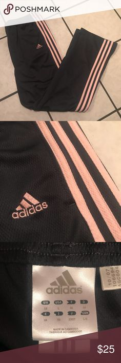 Adidas Track pants Dark grey with pale pink stripes adidas Pants Track Pants & Joggers