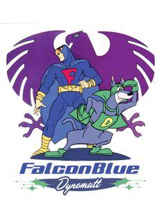 Falcon Blue. Fabulman. Hanna Barbera.