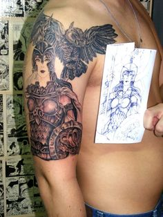 Athena goddess http://th06.deviantart.net/fs71/PRE/i/2012/223/1/5/tattoo_athena_by_gordstattoo-d5aqfpz.jpg