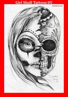 Girl Skull Tattoos 05