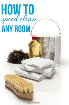 No time to clean and company's coming over?  Check out these super simple tips on How to Speed Clean Any Room via Clean Mama on 30 Days