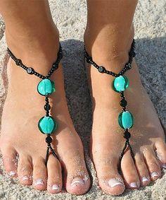 Look at this #zulilyfind! Green Elegance Barefoot Sandal