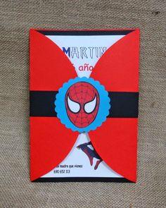 Spiderman ... invitación de Cumpleaños !!! - TIENDA LAS CHUCHES DE CLEO