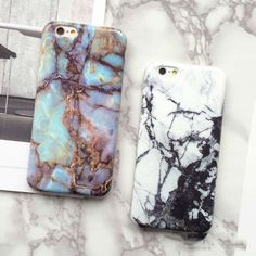 New Hot Granite Marble Texture Phone Hard Back Cover Phone Case For iPhone 7 For iPhone 6 6S 7 Plus Mobile Phone Bags & Cases