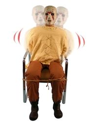 life size animated insane serial killer 4 ft tall insane serial killer is - Animated Halloween Figures