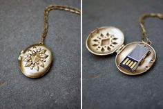 Will never stop swooning over this USB locket.
