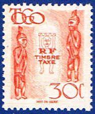 Carved Figures Stamp -  Togo #J33 Stamp - AF TG J33-1