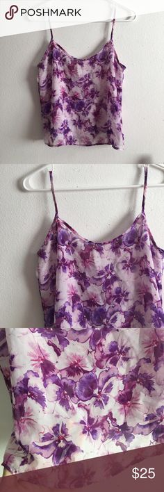 • American Apparel • Chiffon Pansy Floral Tank Top New without tags! Xs. ⭐️Bundles 15% off⭐️  please feel free to ask any questions or submit an offer. Tops