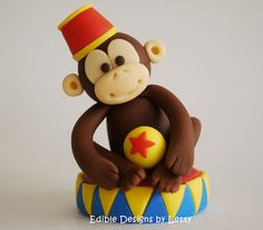 Edible Fondant Cake Toppers  Circus by EdibleDesignsByLetty, $64.00