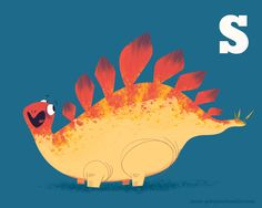 """""""S"""" is for... by scott gwynn This is the most adorable dinosaur the world has ever seen!"""