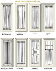 Window Treatment For Patio Door French Curtain