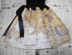 Middle Earth Map, Full Hobbit Skirts, Hobbit costume, Cosplay, Fancy Dress, Rooby Lane