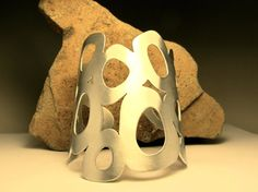 Handmade Silver Cuff Bracelet Nature Derived Organic by owlandbone, $425.00