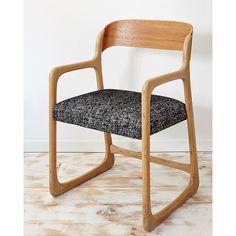 Chair sled Baumann lines Scandinavian fully by TapissierTapisserie