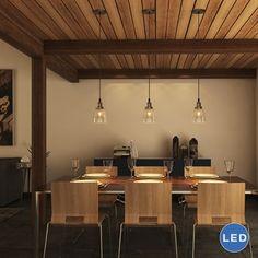 Vonn Lighting VVP21111 Delphinus Small Adjustable Pendant Light with LED Filament Bulb