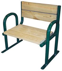 Round Tube Benches, Arch Style: For a clean, modern look, surface mountable Round Tube Park Benches are both sturdy and competitively priced. - Iowa Prison Industries