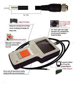 Fiberscope Borescope w/ camera recording 1 m probe  http://www.joyfay.com/us/fiberscope-borescope-w-camera-video-recording-1m-probe.html