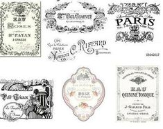 You will receive 7 decals. These are WATER SLIDE DECALS and so easy to use. We have a HUGE selection of decals to enhance any decor. Buy 3 sheets and get the one FREE! Vintage Bee, Vintage Paris, Style Vintage, French Vintage, Vintage Labels, Nursery Decals, Thing 1, Vintage Images, Etsy