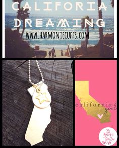 Give California for Christmas to a person who really misses it ❤️ www.harmoniecuffs.com Under categories CLICK on Inspirational metals. #california #handmadeisbetter #madebyharmonie