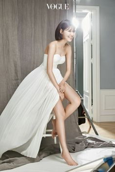 VOGUE: What does SNSD mean to you? SOOYOUNG: They're reliable colleagues, friends I'll be together with my entire life, and family. Yuri, Tiffany, Marie Claire, Girl's Generation, Singer Tv, Sooyoung Snsd, Vogue Korea, First Girl, 1 Girl