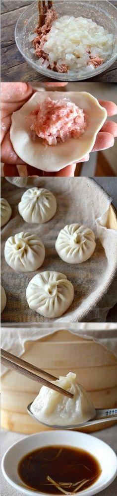 Steamed Shanghai Soup Dumplings.by The Woks of Life
