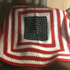 Crochet Patriotic blanket  Granny square