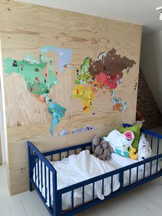 Jongenskamer - Boysroom - Wereldkaart Janod