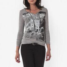 T-shirt sérigraphié, Femme