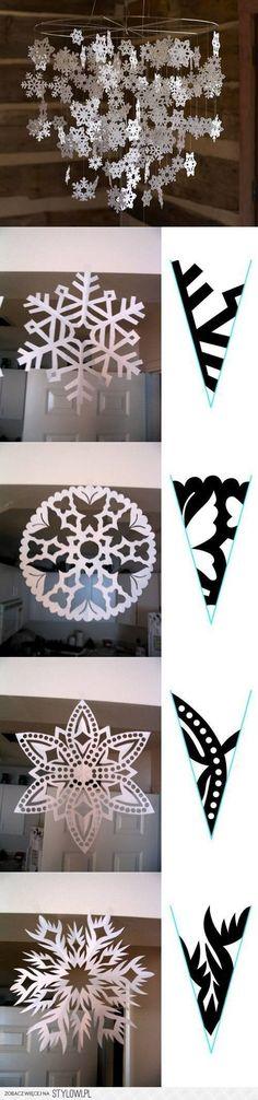 DIY Snowflake Paper Pattern DIY Projects | UsefulDIY.co… na Stylowi.pl