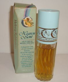 Vintage bottle of Helena Rubinstein Heaven Sent eau de parfum spray mist Perfume oz, one of my grandmothers wore this and it was amazing! Vintage Makeup Ads, Vintage Perfume, Vintage Beauty, Sweet Memories, Childhood Memories, Little Bit, Heaven Sent, Bedroom Vintage, Parfum Spray