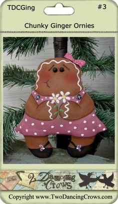 Chubby Gingerbread Ornaments PM $7.99