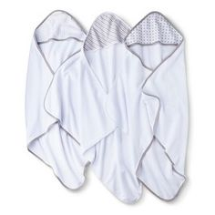 Circo® Newborn 3 Pack Hooded Towels - Grey