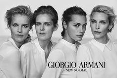 Красота вне времени: рекламная кампания Giorgio Armani – New Normal. Героинями кампании Giorgio Armani стали Ясмин Ле Бон, Ева Герцигова, Надя Ауэрман и Стелла Тенант, возраст которых колеблется от 40 до 51 года.