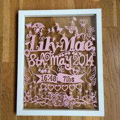 new baby paper cuts - Google Search