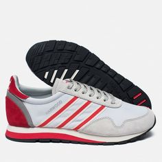 adidas Originals Harwood Spezial Clear Grey/Ray Red/Off White. Article: S76615. Year: 2016.