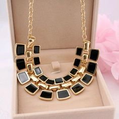 2015 Trendy Necklaces Pendants Link Chain Collar Long Plated Enamel Statement Bling