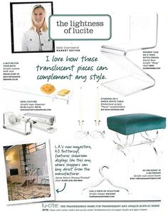 Lucite Lux® at home and at work. You can't go wrong.