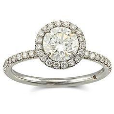 18k Diamond Halo Ring from Borsheims.