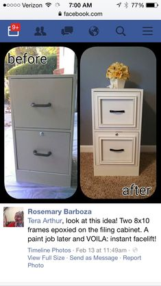 File cabinet facelift