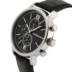 eda40968835 Auguste Jaccard Accordini Men s Multi-Function Watch Genuine Leather Strap     Top Stylish Watch